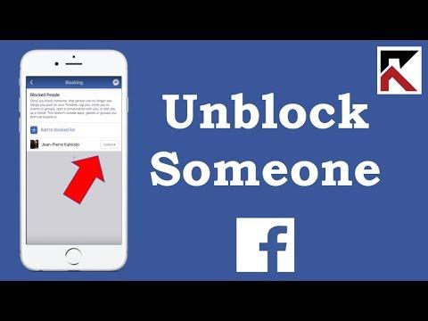 I blocked someone on facebook how do i unblock them