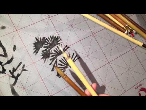Explaining Chinese painting brushes