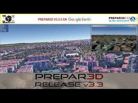 [P3D V3.3.5]  y Google Earth sobre Madrid (España)