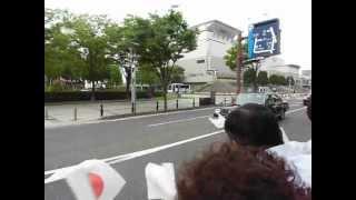 皇太子殿下の滋賀・大津・琵琶湖ホール前の車列