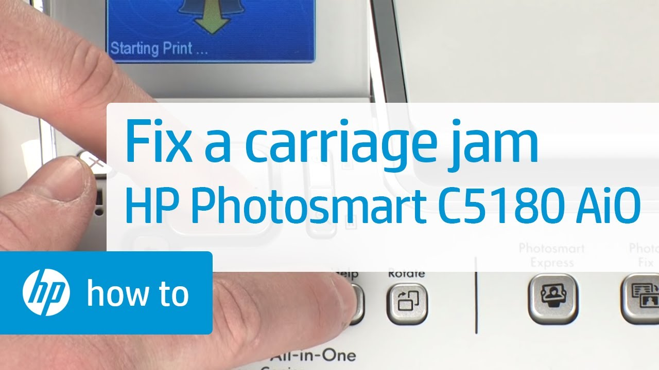 fixing a carriage jam hp photosmart c5180 all in one printer youtube rh youtube com hp photosmart c6280 all-in-one printer manual hp photosmart c6280 user manual