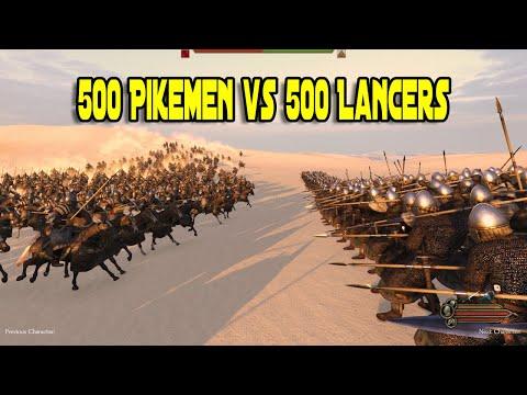 500 Vlandian Pikemen vs 500 Khuzait Lancers - Mount & Blade 2: Bannerlord |
