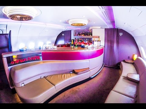 Qatar Airways A380 Business Class London to Doha