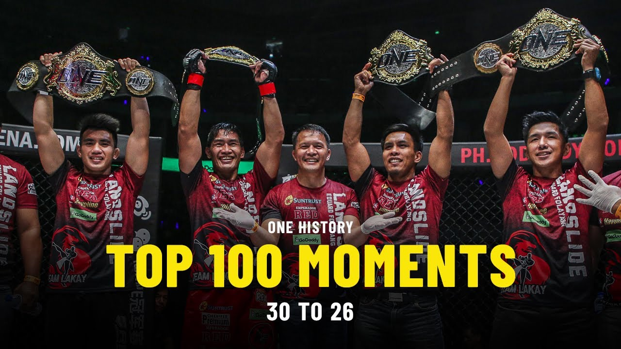 Top 100 Moments In ONE History | 30 To 26 | Ft. Eduard Folayang, Martin Nguyen & More