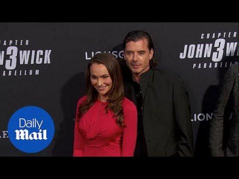 Gavin Rossdale And Natalie Golba At John Wick Premiere In LA