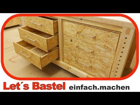 2 4 Werkbank Schubladen Selber Machen Schrank Korpus Zusammen Bauen