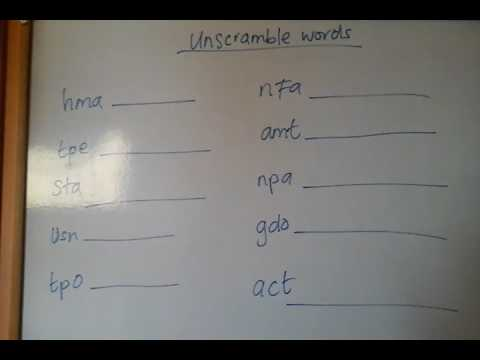 Unscramble these 3 letter words ( homeschooling uk )   YouTube