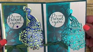 Using the ROYAL PEACOCK bundle by Stampin' Up! to create a BEAUTIFUL and simple card