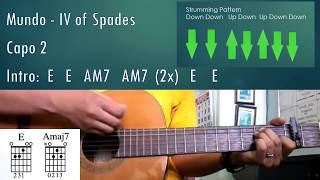 Mundo - IV of Spades - Guitar Chords