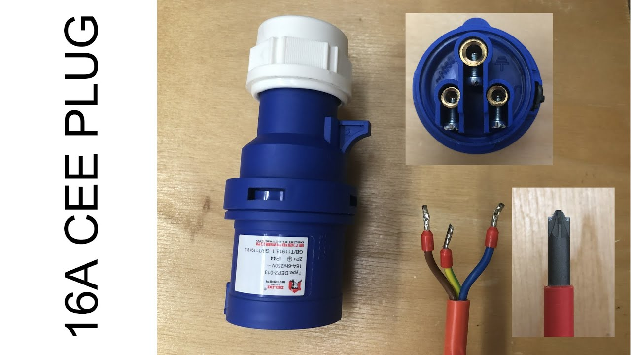 Wiring A 16 Amp Plug Professionally Cee 16a Ip44 Plug Youtube