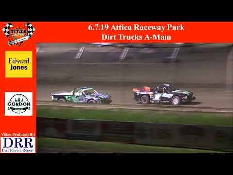 6.7.19 Attica Raceway Park Dirt Trucks A-Main