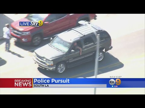 DUI Suspect Does Push-Ups At End Of Police Chase