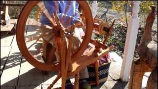 Kromski Spinning Wheel in Action at Three Creeks Farm in Tennessee