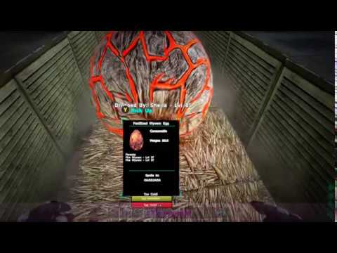 ARK Survival- Scorched Earth- How to Hatch Wyvern (Dragon) Eggs using Air Conditioners