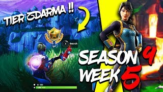 WHERE is the THIRD FREE TIER FOR SEASON 9 (Week 5)-Fortnite Battle Royale CZ/SK