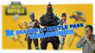 SMALL FORTNITE GEWINNSPIEL - 2* BATTLE PASS SEASON 3 raffle + MY COMEBACK!!!