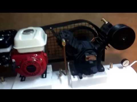 how to work petrol engine air compressor
