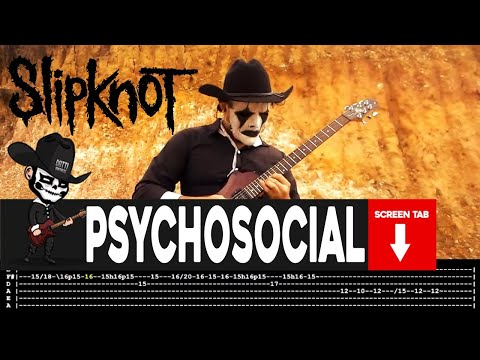 Slipknot - Psychosocial (Guitar Cover by Masuka W/Tab)