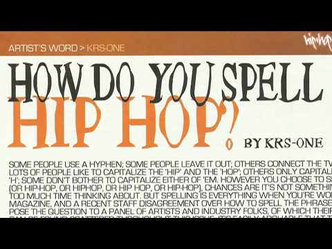 KRS-One: The Temple of Hip Hop Introduction