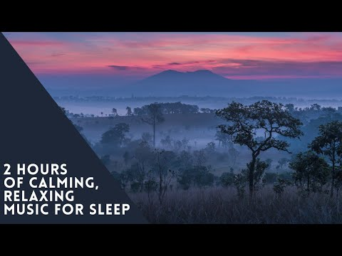 2 Hours of Calming Relaxing Music To Sleep   Misty Mountains, Lakes and Clouds