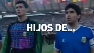 Maradona defiende el Himno Nacional en Italia 90