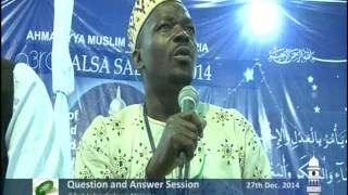 Jalsa Salana Nigeria 2014 - Question and Answer Session a