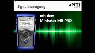 NTi Audio Webinar - Signalerzeugung mit dem Minirator MR-PRO