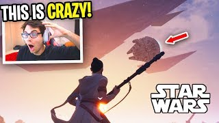 Fortnite STAR WARS Event REACTION... (The Rise of Skywalker Movie Clip)