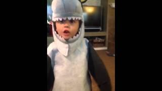 Pottery Barn Shark! costume (My son Ryan 6yrs old)