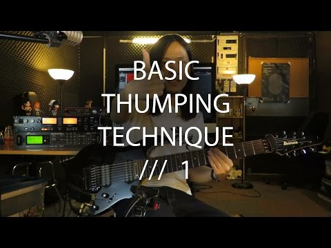 How to Thumping ? [1] (Tosin Abasi Style) // 基礎拍弦技巧 // 1 (With Subtitle)