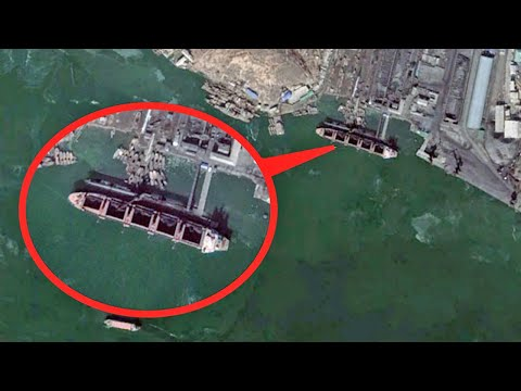Caught On Satellite - North Korea's Secret Ships