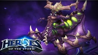 Heroes Of The Storm Zagara Gameplay (PC) Untouchable Build - Ranked Match Sky Temple HD ✔