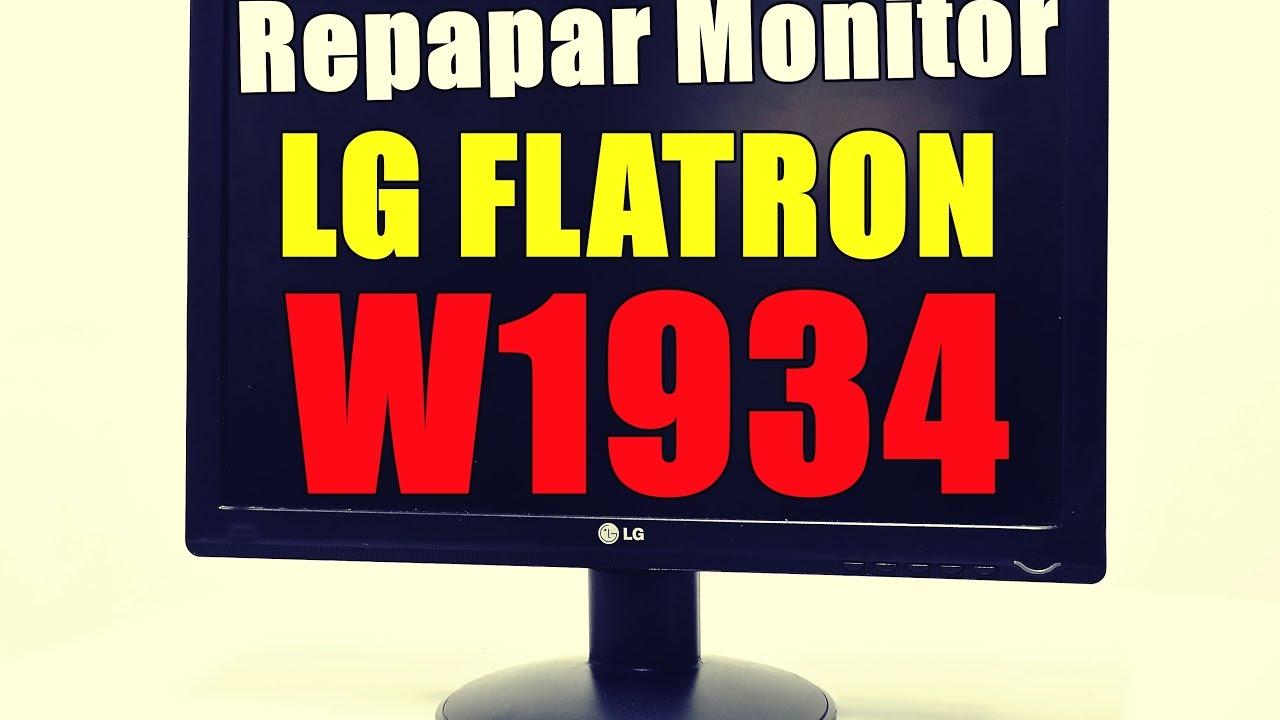 Reparar Monitor LG Flatron 1934 - YouTube
