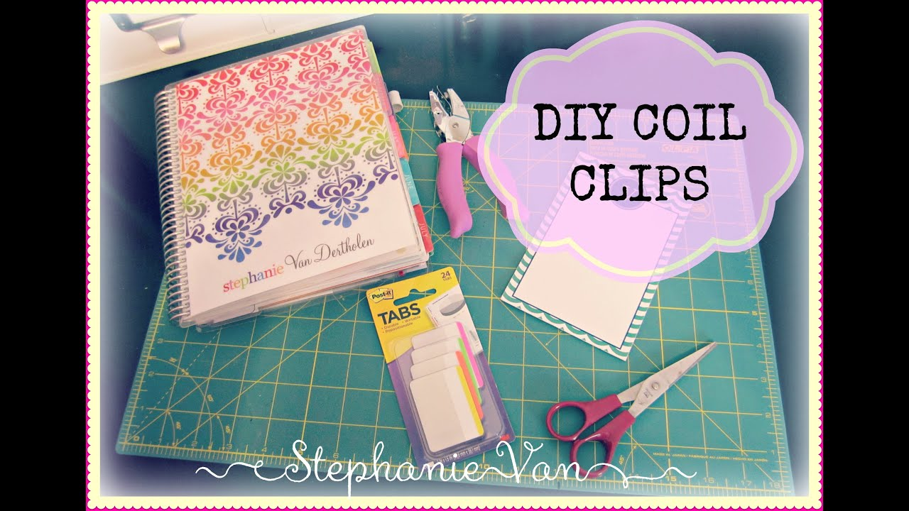 Make your own coil clips for your erin condren life for Build your own planner