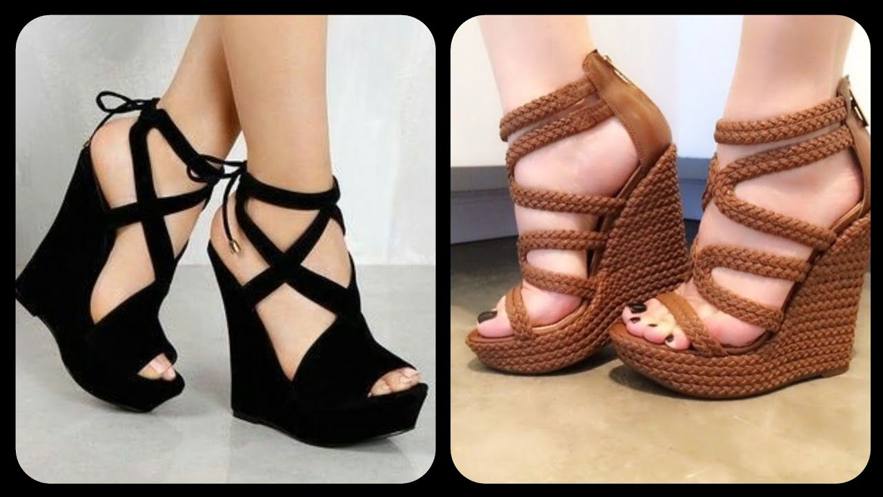 Wedge heels ideas and designs for girls