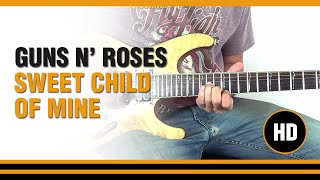como tocar sweet child of mine de guns n roses en guitarra electrica clase tutorial
