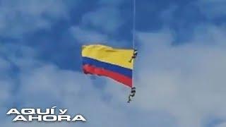 Militar que murió tras caer de la bandera de Colombia le dijo a su esposa que no quería participar