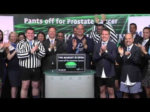 Pants Off for Prostate Cancer opens Toronto Stock Exchange, June 12, 2014.