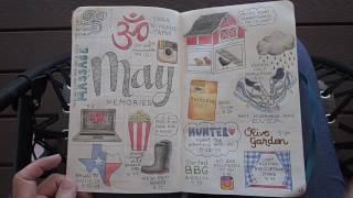 my personal bullet journal run through