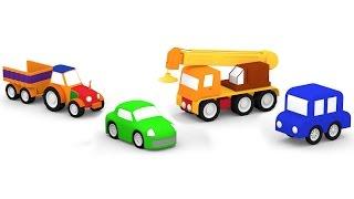 Мультфильмы для самых маленьких. 4 машинки. ТРАКТОР