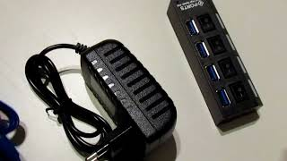 GEMBIRD USB hub 4-port USB 3.0 USB unboxing, review. Hub for Android developers