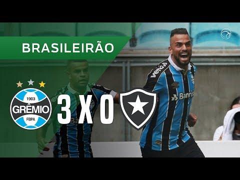 GRÊMIO 3 X 0 BOTAFOGO - GOLS - 27/10 - BRASILEIRÃO 2019