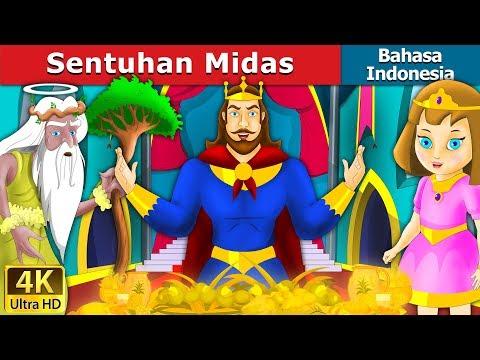 Sentuhan Midas | Dongeng bahasa Indonesia | Dongeng anak | 4K UHD | Indonesian Fairy Tales