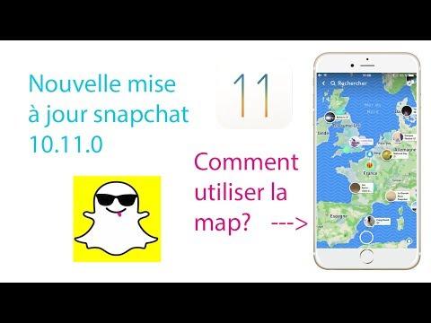 Mise à jour Snapchat 22 juin 2017 comment l'utiliser? Maps: trouver vos amis!