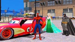 Эльза Холодное Сердце, Спайдермен Человек Паук, Бэтман и Молния Маккуин Тачки 2