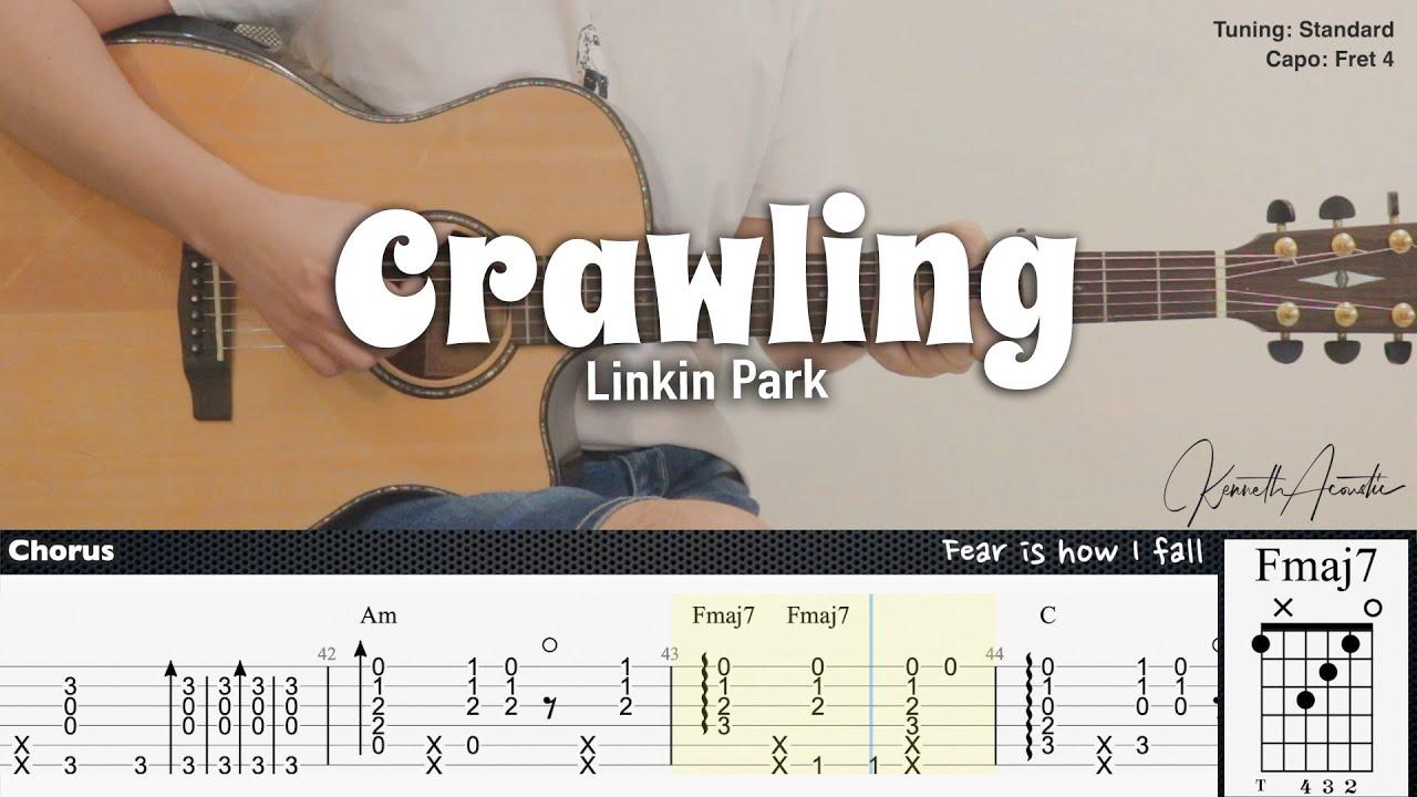 Crawling - Linkin Park | Fingerstyle Guitar | TAB + Chords + Lyrics