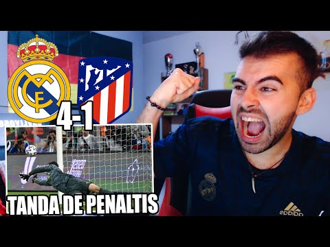 HINCHA del REAL MADRID reacciona a la TANDA DE PENALTIS REAL MADRID VS ATLETICO DE MADRID (4-1) - 동영상