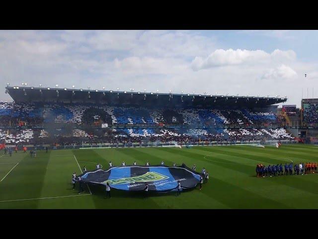 15/05/2016: Club Brugge - Anderlecht (4-0): Tifo, Kampioen 2015-2016