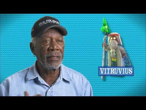 "The Lego Movie: Morgan Freeman ""Vitruvius"" On Set Movie Interview"