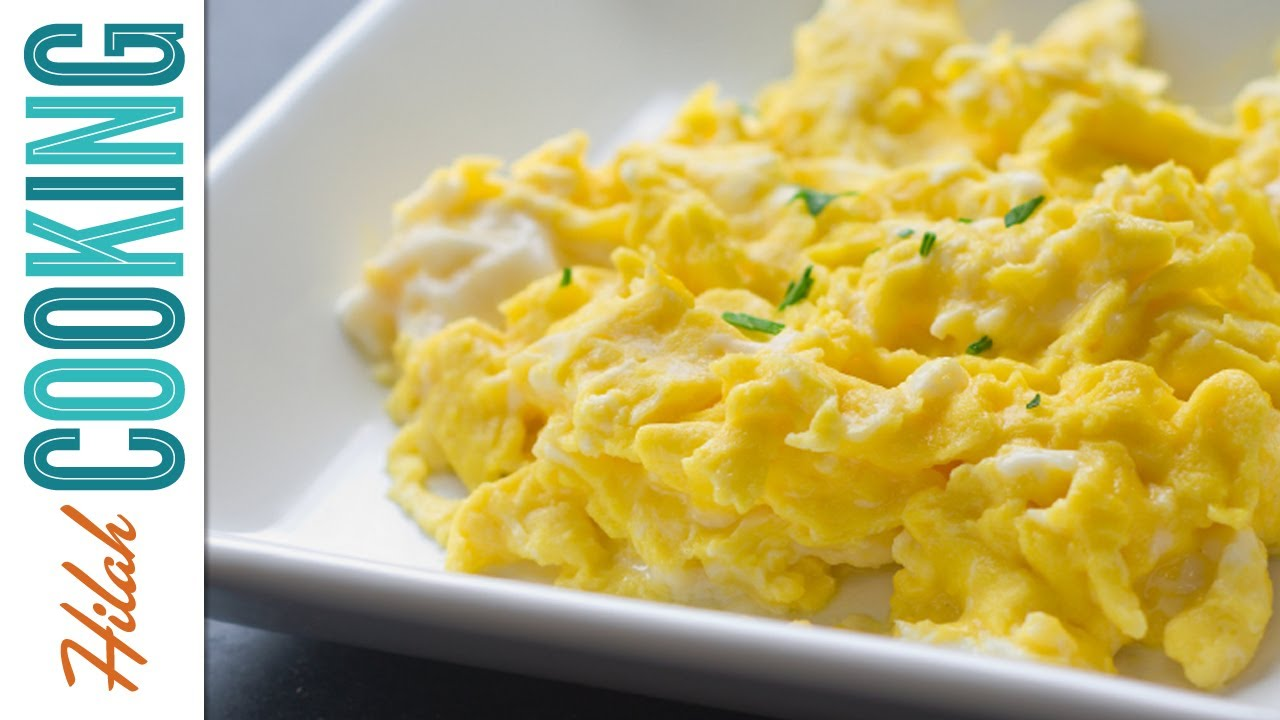 how to make scrambled eggs perfect scrambled eggs recipe hilah cooking ep 34 youtube